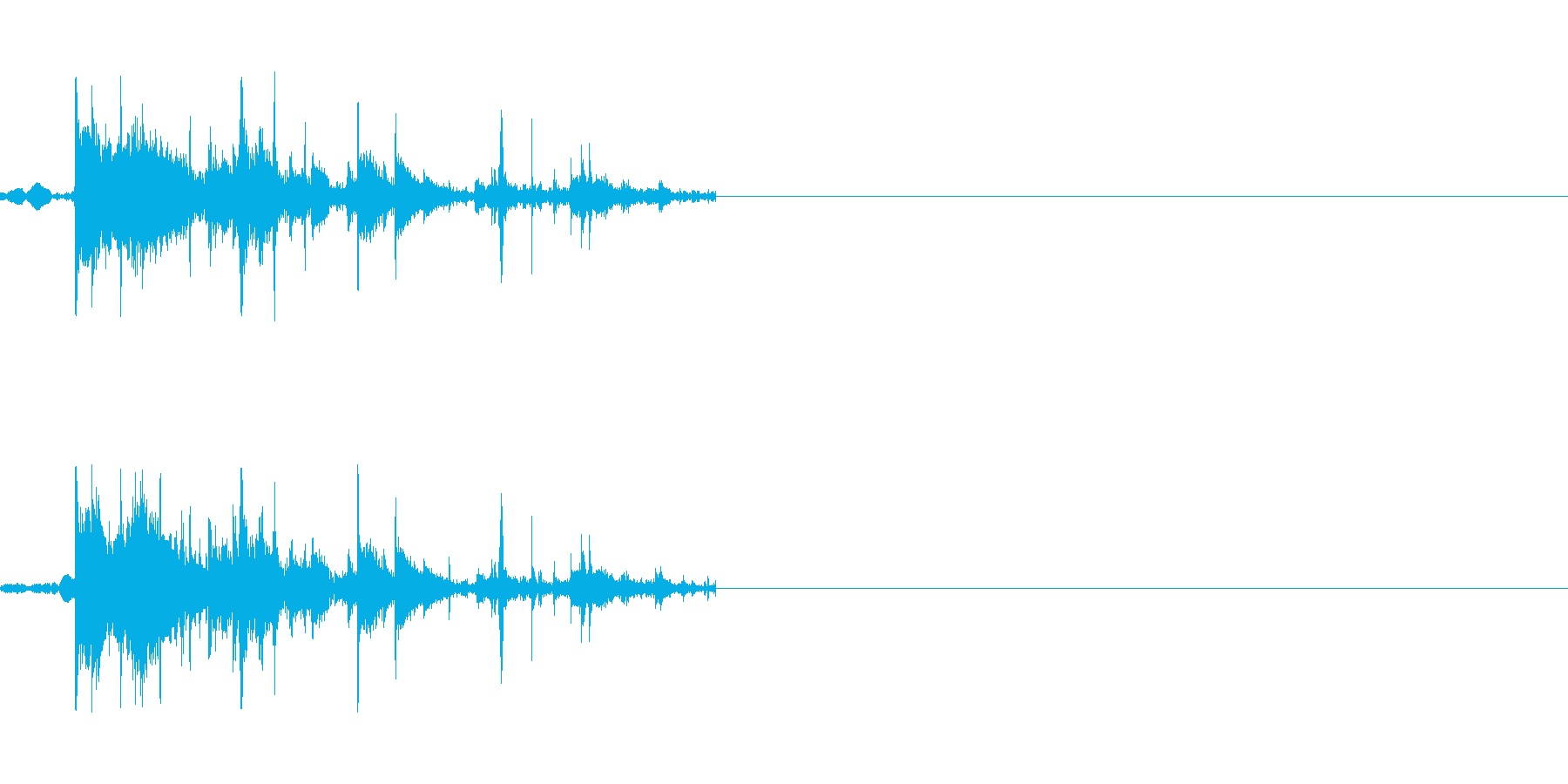 物が割れる音の再生済みの波形