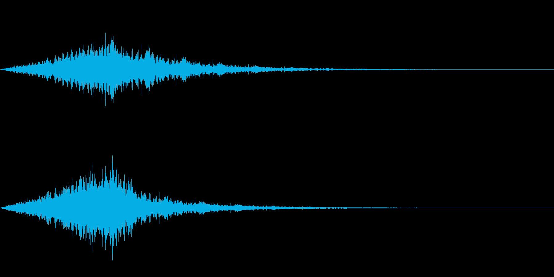 怖い音05の再生済みの波形