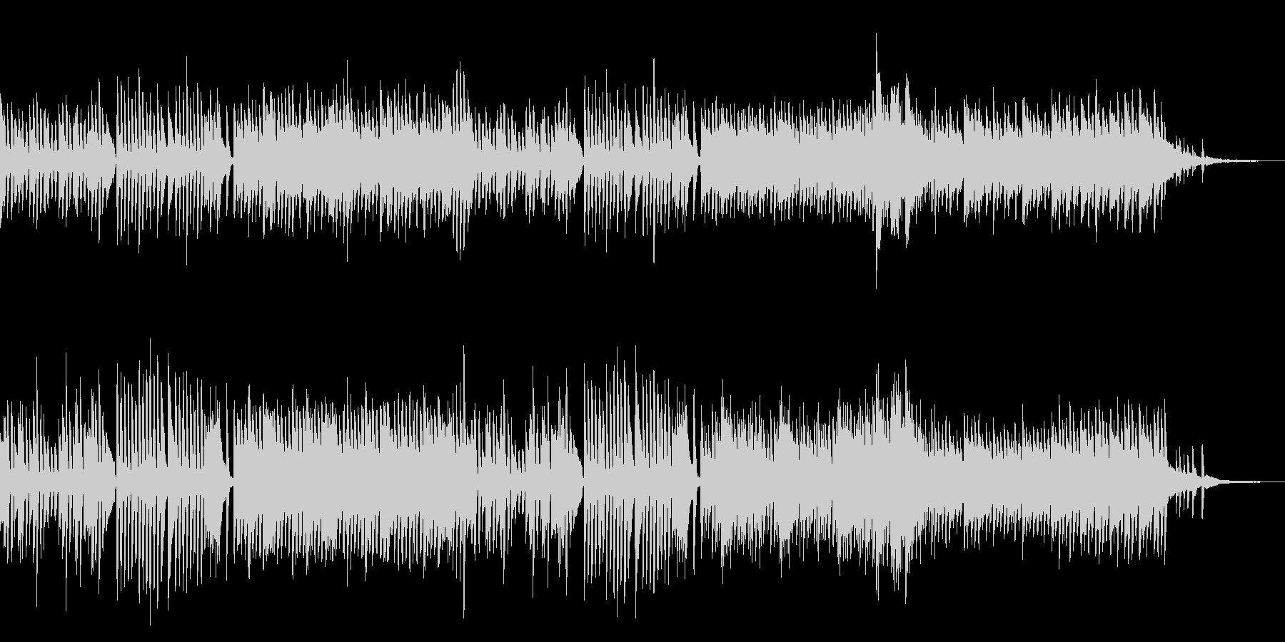 いたずらしているようなピアノ曲の未再生の波形