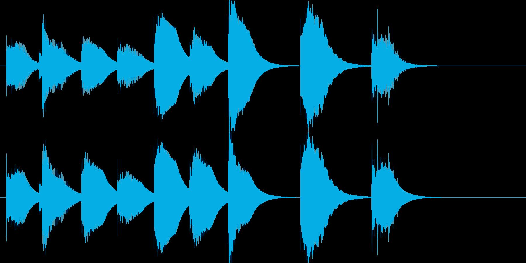 NHK的タイトル紹介BGMの再生済みの波形