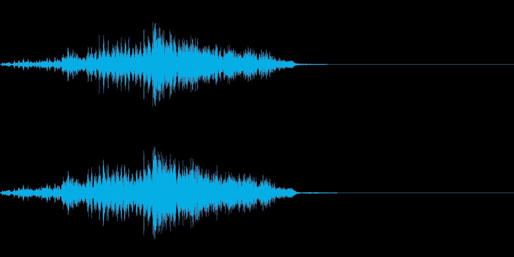 目が廻った時の音の再生済みの波形