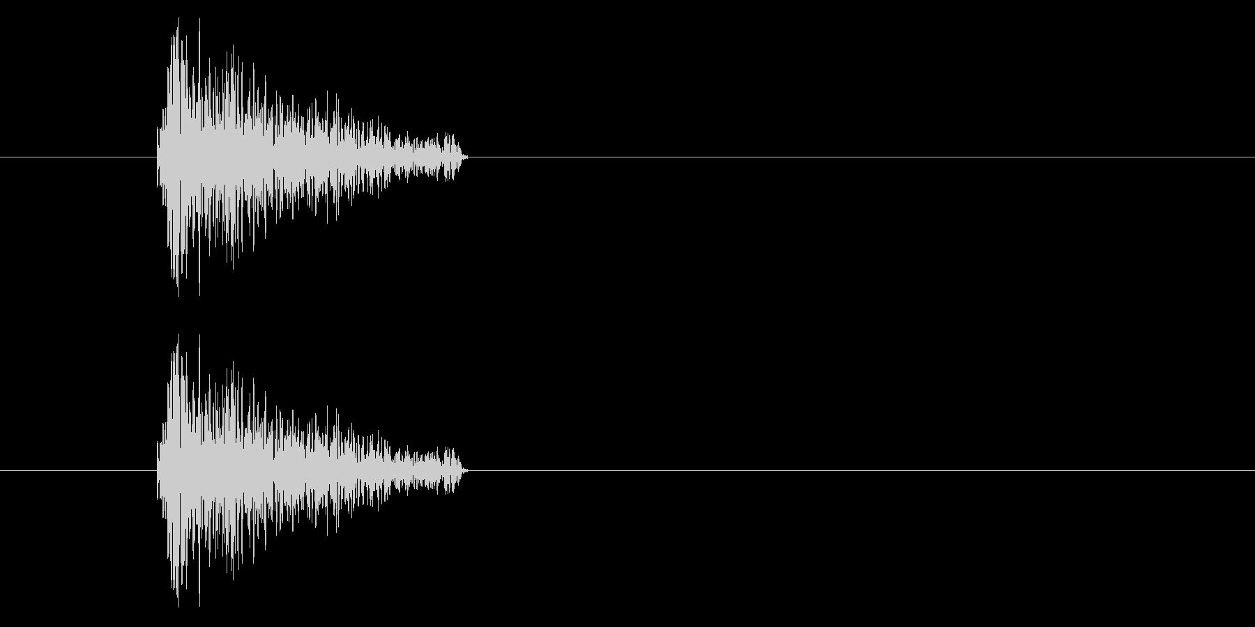 ジャン!レトロなオケヒ_音程低めの未再生の波形