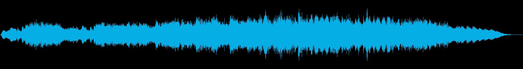 ジングル|感動的な夕方の雰囲気-管弦楽器の再生済みの波形