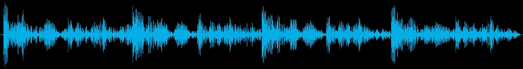ドンドコ 太鼓のリズム ループ用の再生済みの波形