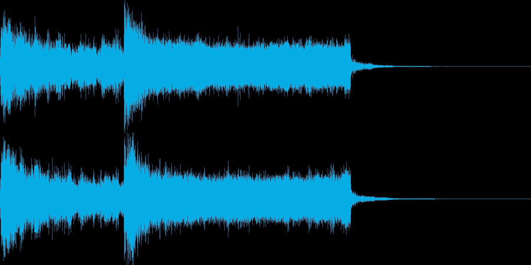 ジングル(大外れ・没収・ゲームオーバー)の再生済みの波形