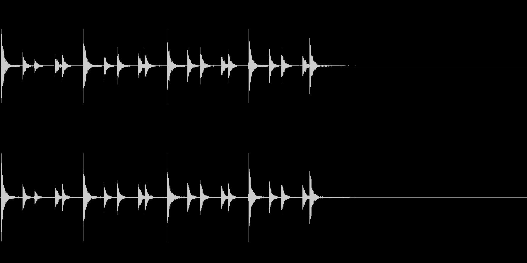 相撲の触れ太鼓「大拍子」フレーズ音1FXの未再生の波形
