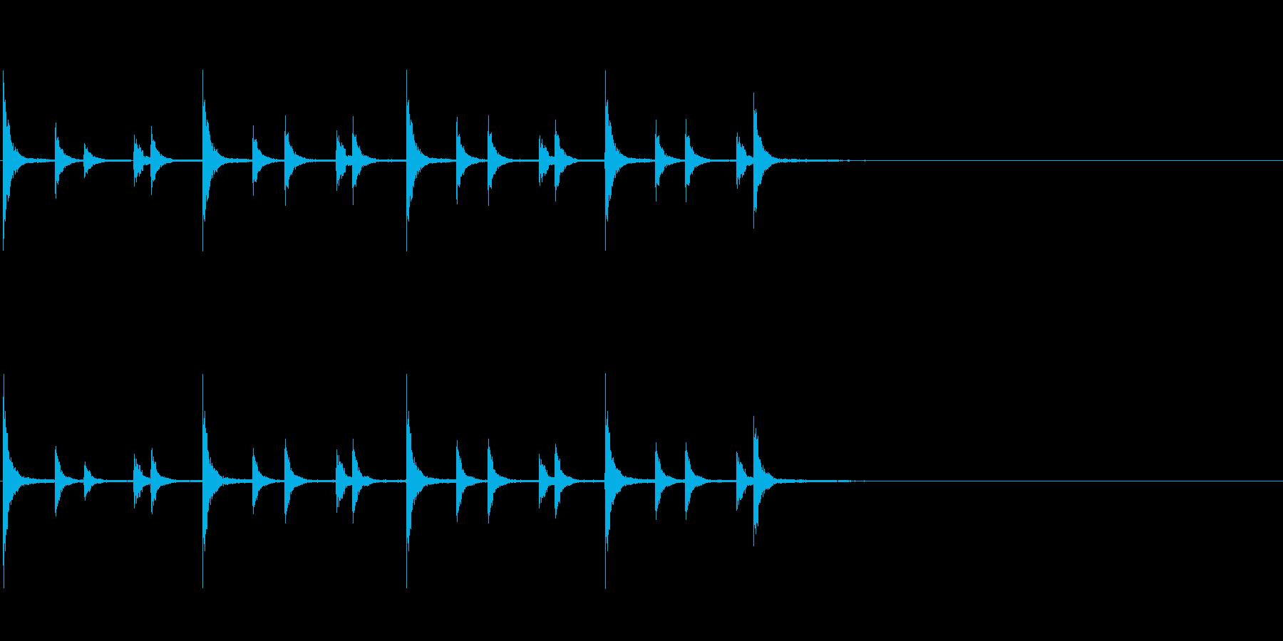 相撲の触れ太鼓「大拍子」フレーズ音1FXの再生済みの波形
