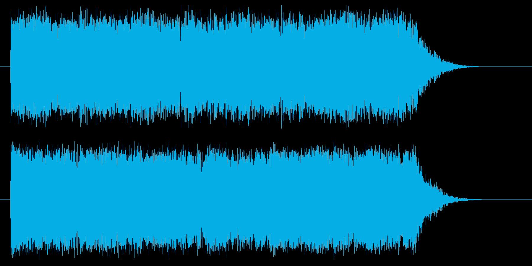明るいキラキラしたシンセサイザーの曲の再生済みの波形