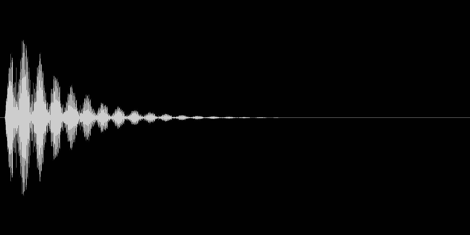 ボボボボ…の未再生の波形