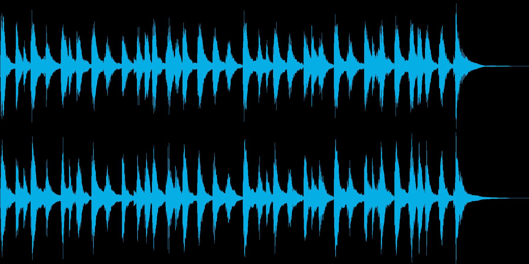 ゆるくて気の抜けた雰囲気のサウンドロゴの再生済みの波形