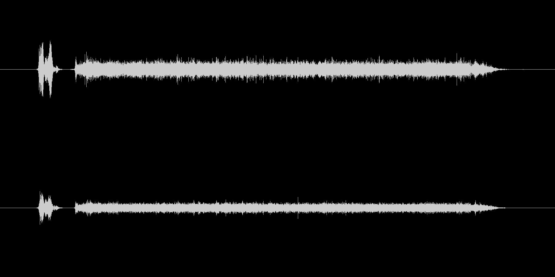 蛇口を捻り水が出る音の未再生の波形