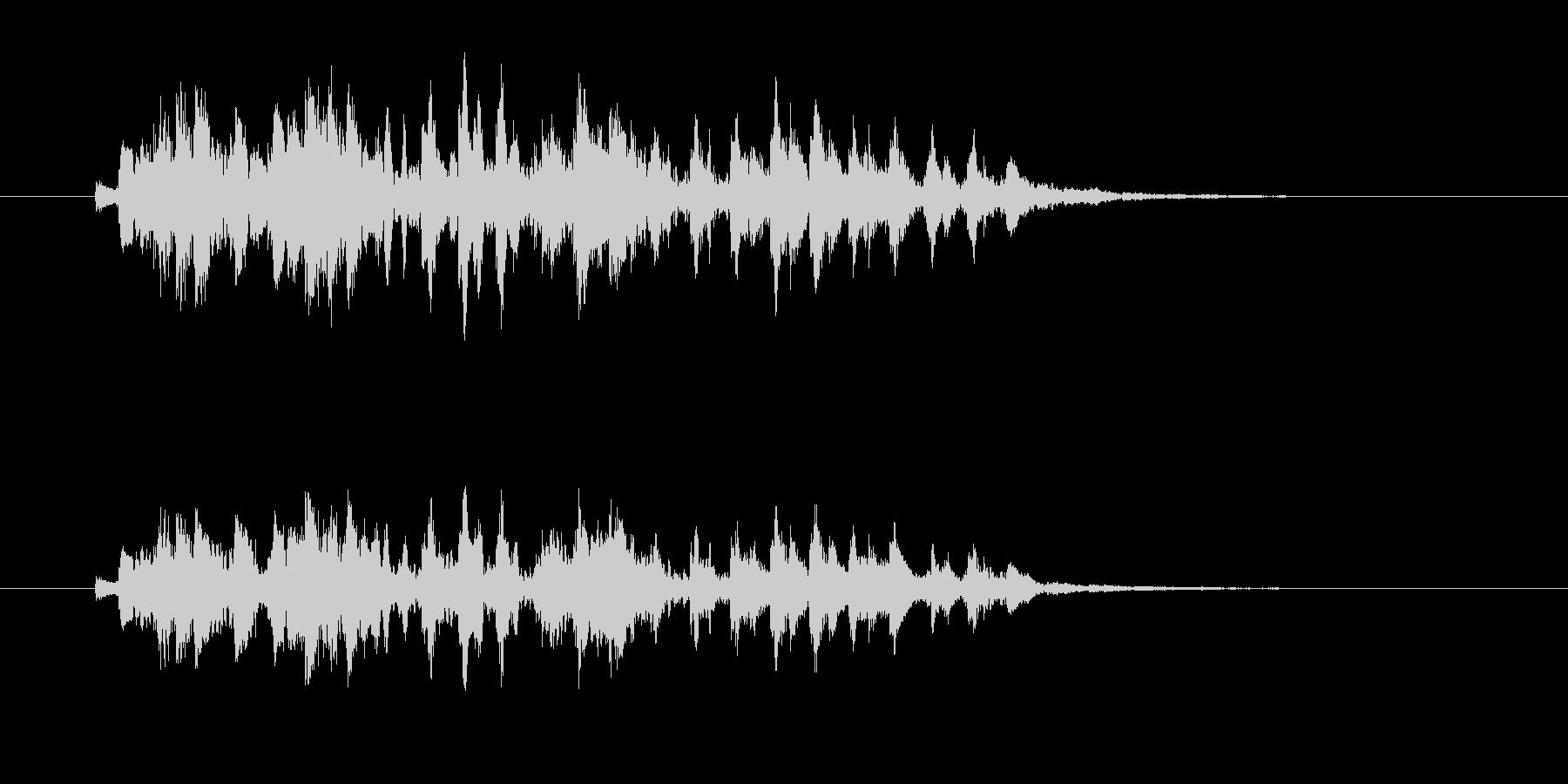 軽やかなギター音(弦、弾く)の未再生の波形