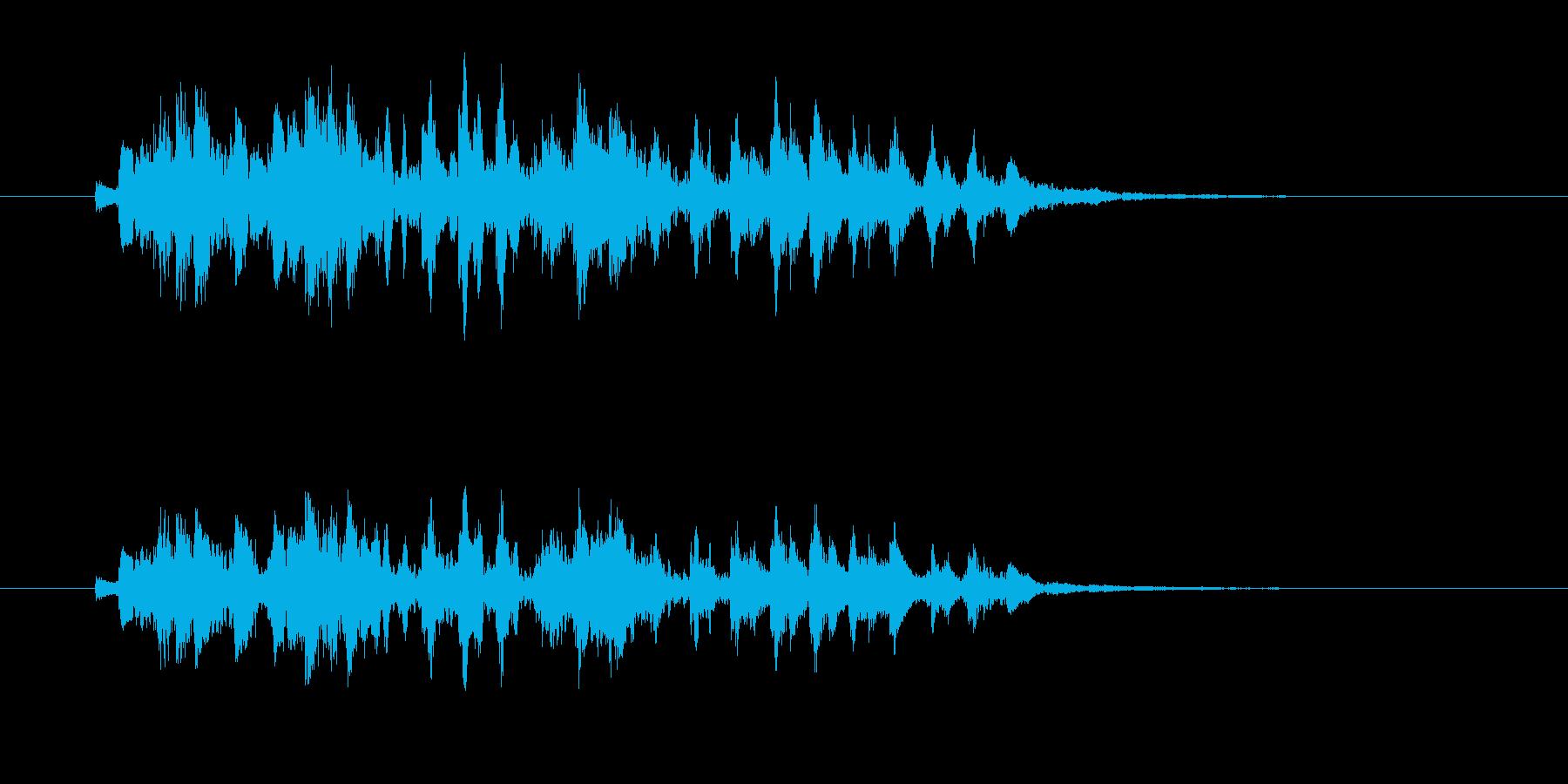 軽やかなギター音(弦、弾く)の再生済みの波形