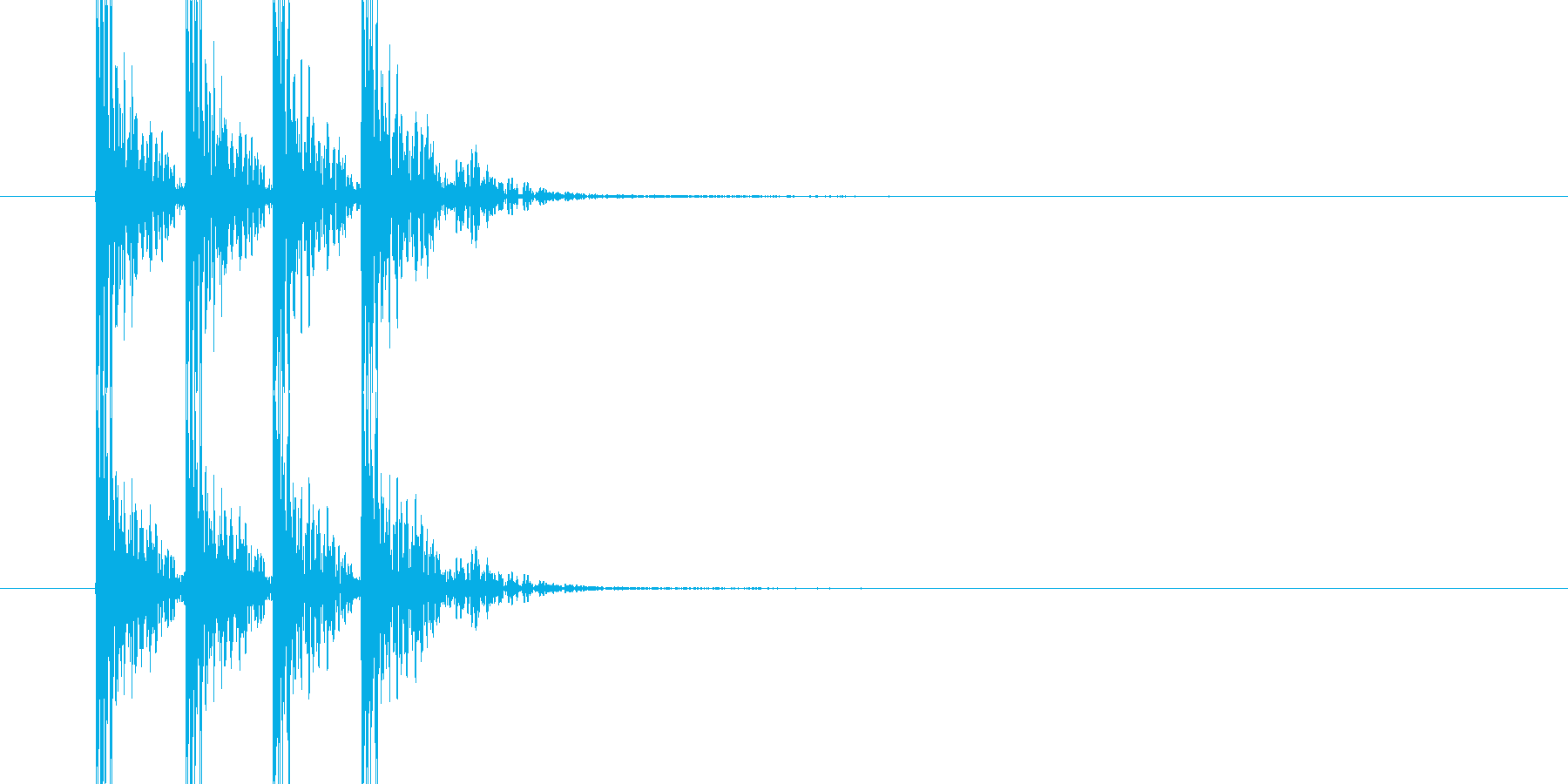 ドンドンドン(木製のドアを叩く音)の再生済みの波形