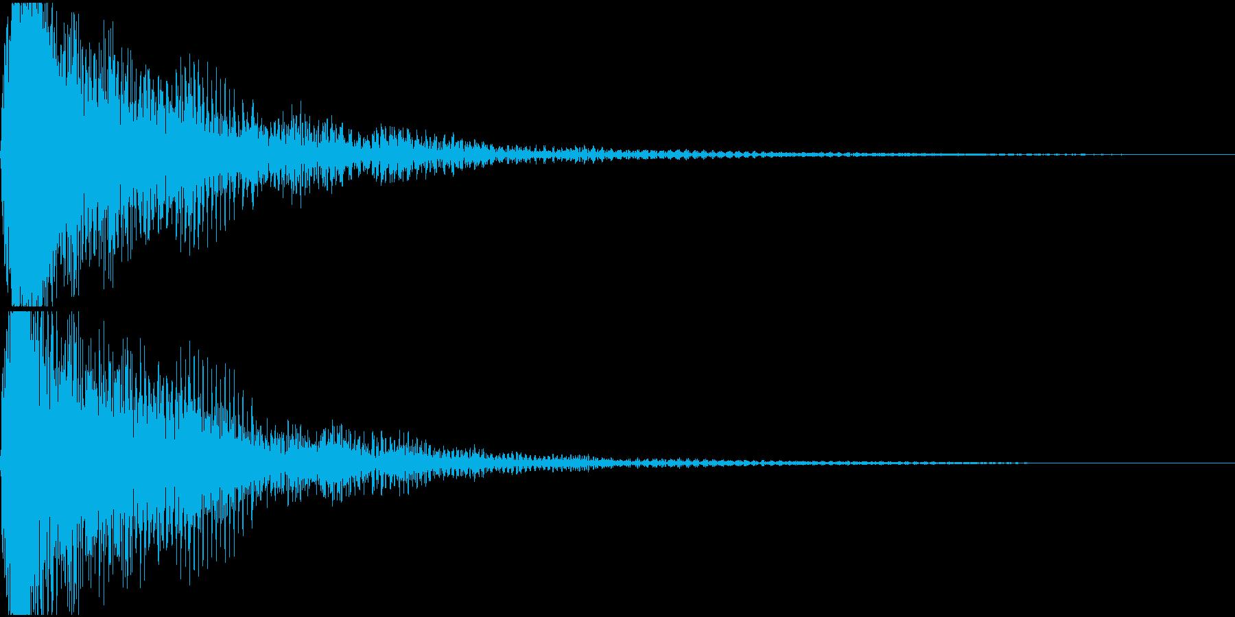ミ単音のオーケストラルヒットの再生済みの波形