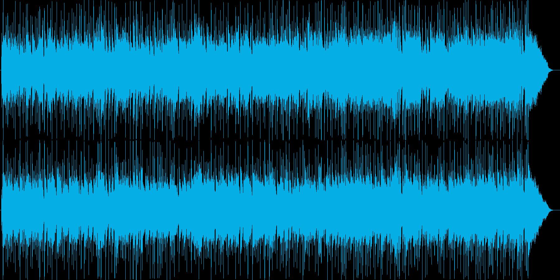 誰かとドライブしているような明るい曲の再生済みの波形