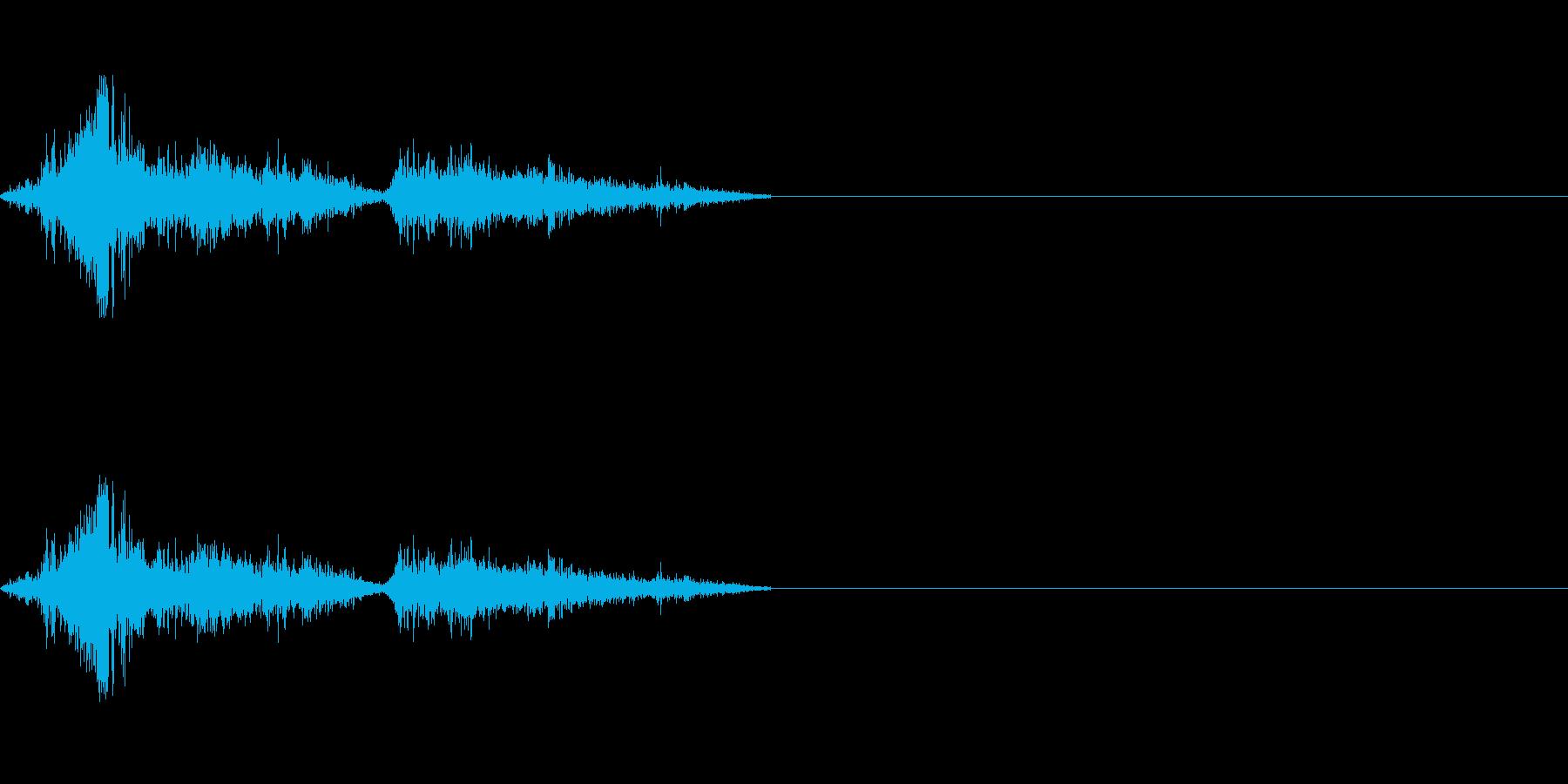 鳥類系のモンスター攻撃時にの再生済みの波形