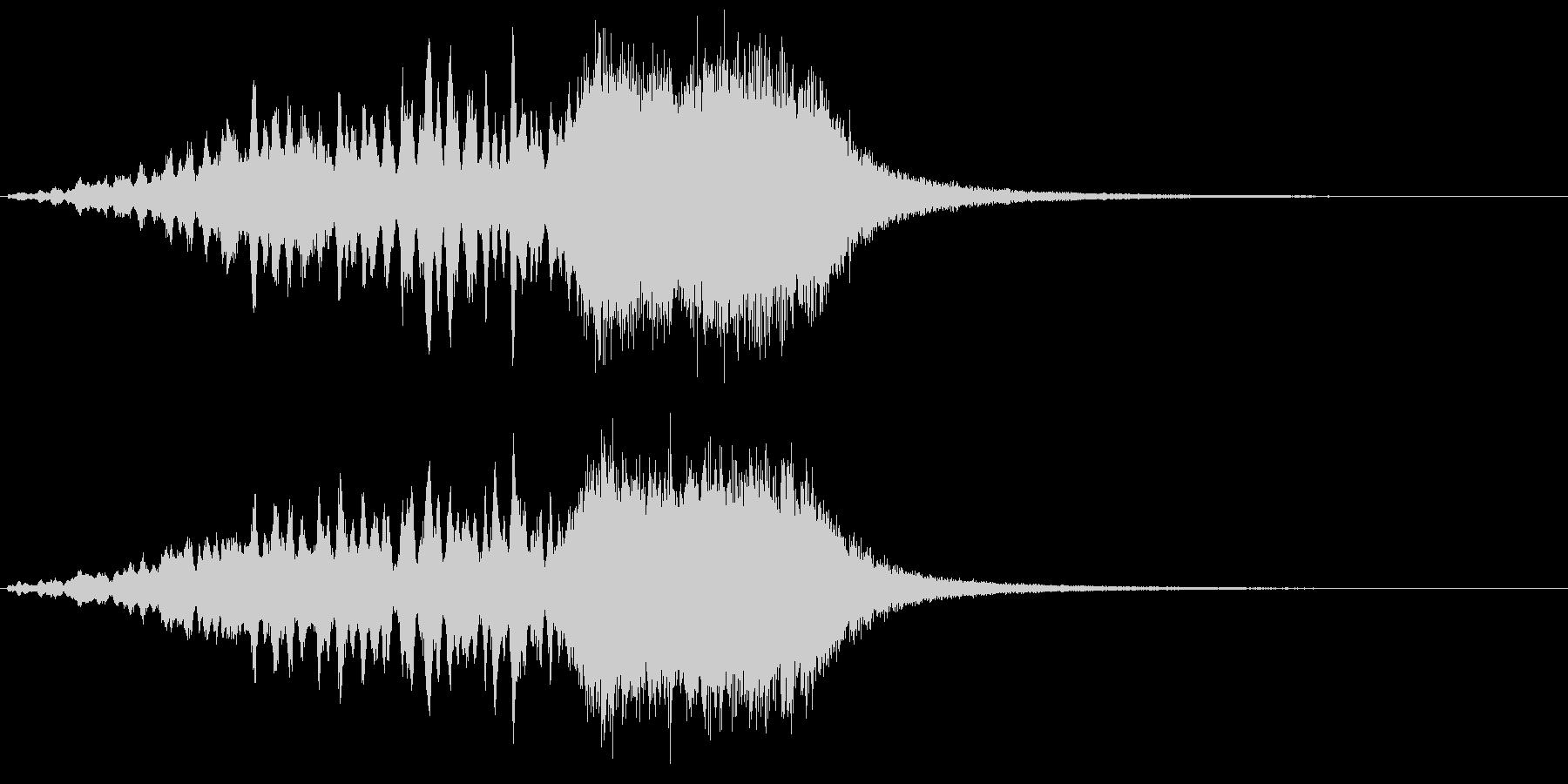 サウンドロゴ  キラキラ グォー!の未再生の波形