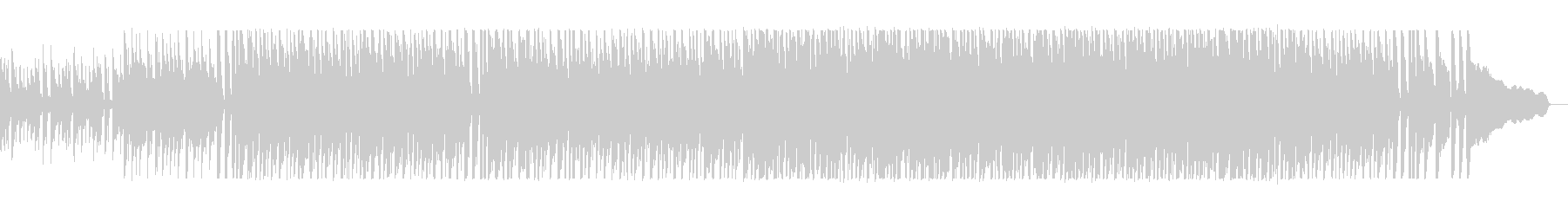 アップテンポの疾走感のあるシンセサイザーの未再生の波形