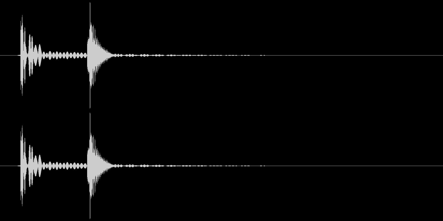 ペタッ(ハンコ、スタンプを押す)の未再生の波形