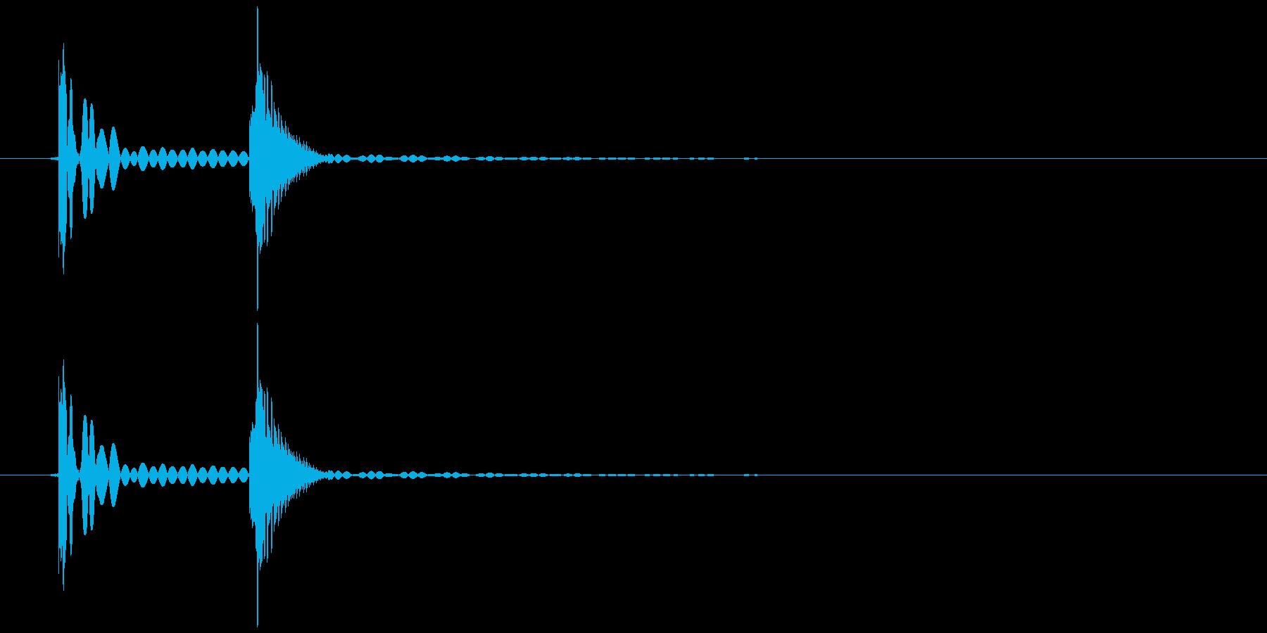 ペタッ(ハンコ、スタンプを押す)の再生済みの波形