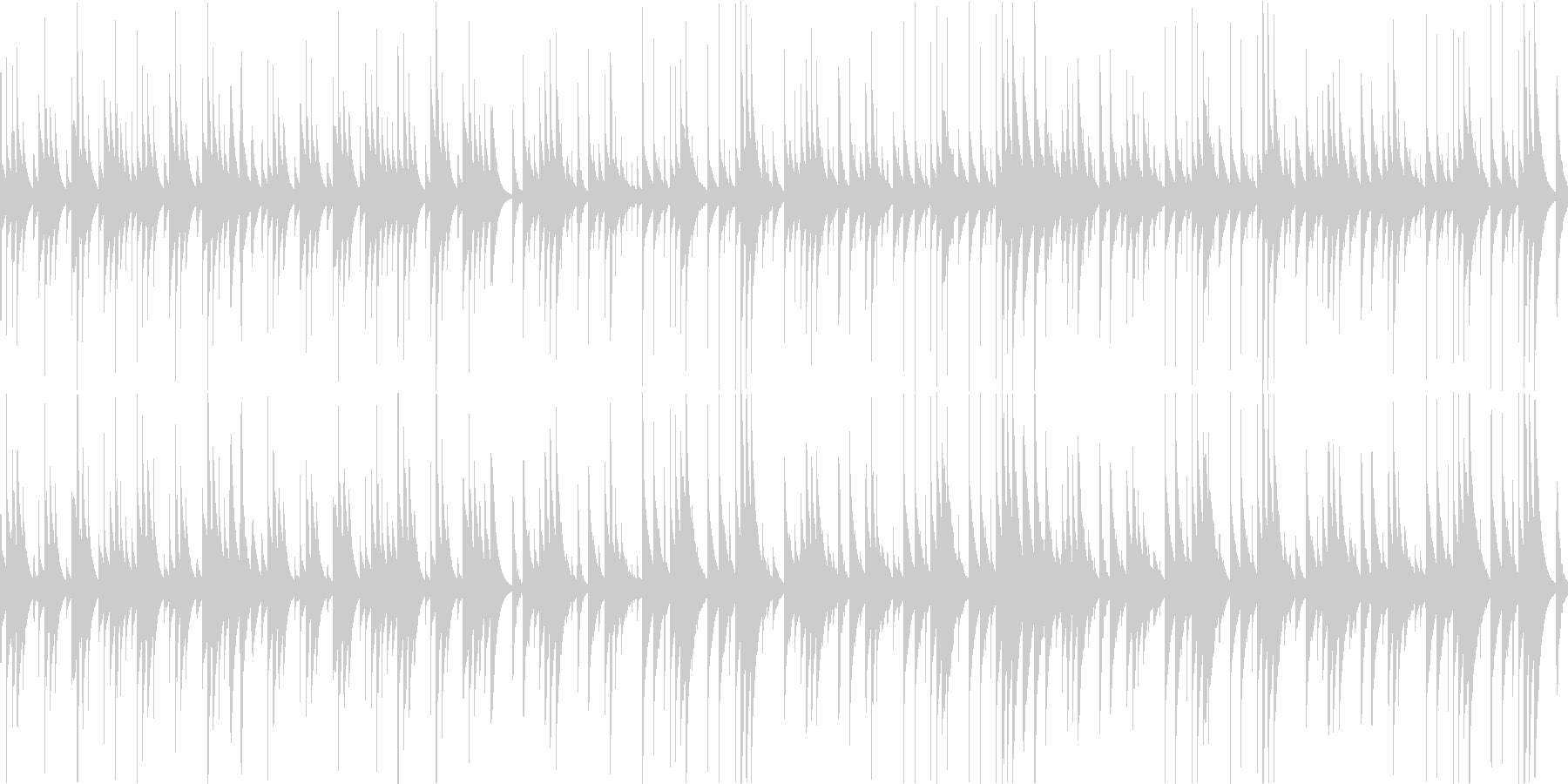 ウェディング系の優しいオルゴールの未再生の波形