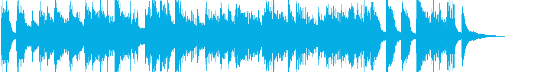 OP、ピアノ、アコギ、出囃子の再生済みの波形