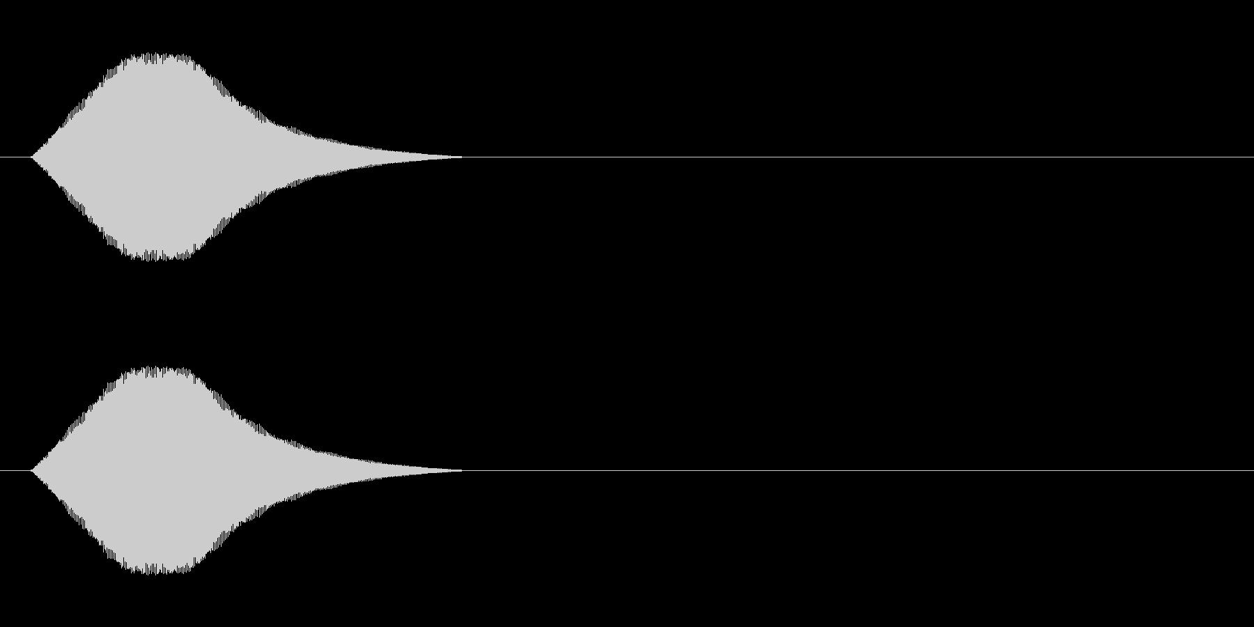 選択肢移動時などに適したシステム音の未再生の波形