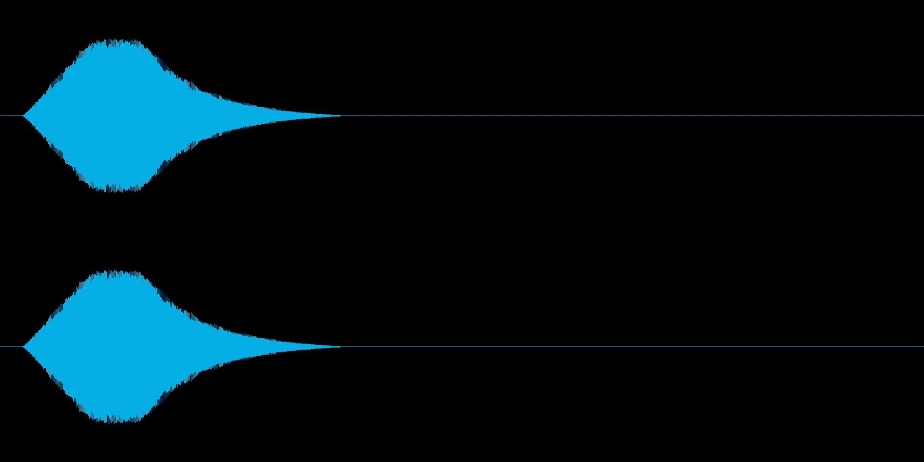 選択肢移動時などに適したシステム音の再生済みの波形