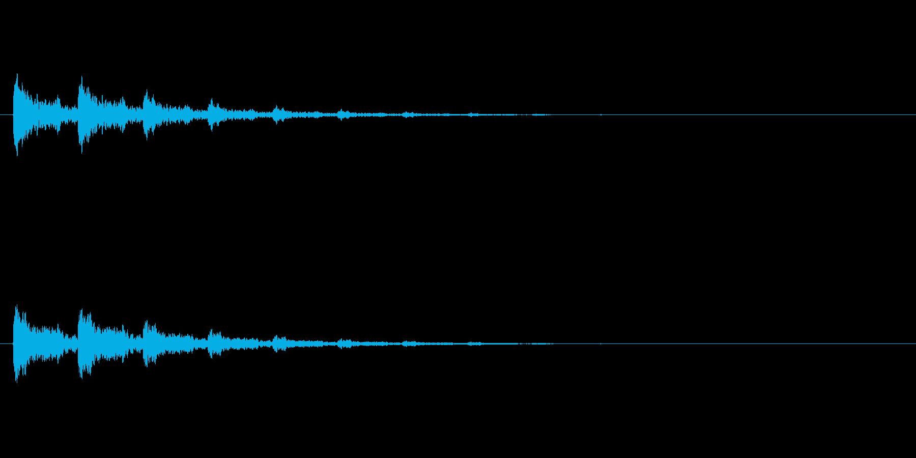 【アクセント21-3】の再生済みの波形