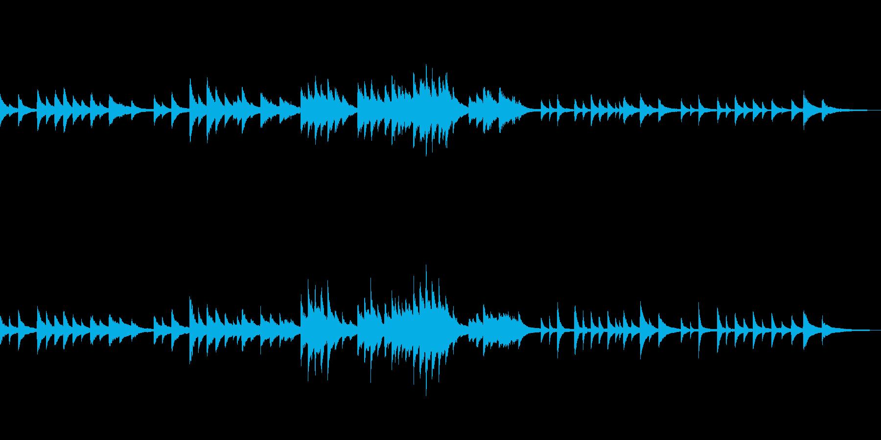 C=528Hz 癒しのピアノ 深い祈りの再生済みの波形