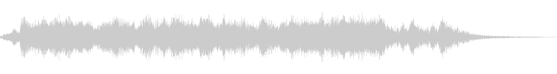 明るく軽快なオーケストラファンファーレの未再生の波形