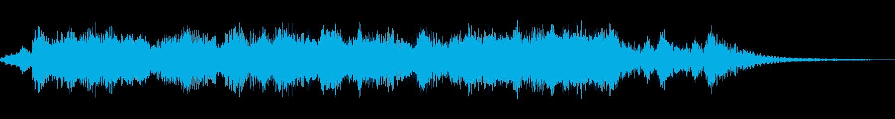 明るく軽快なオーケストラファンファーレの再生済みの波形