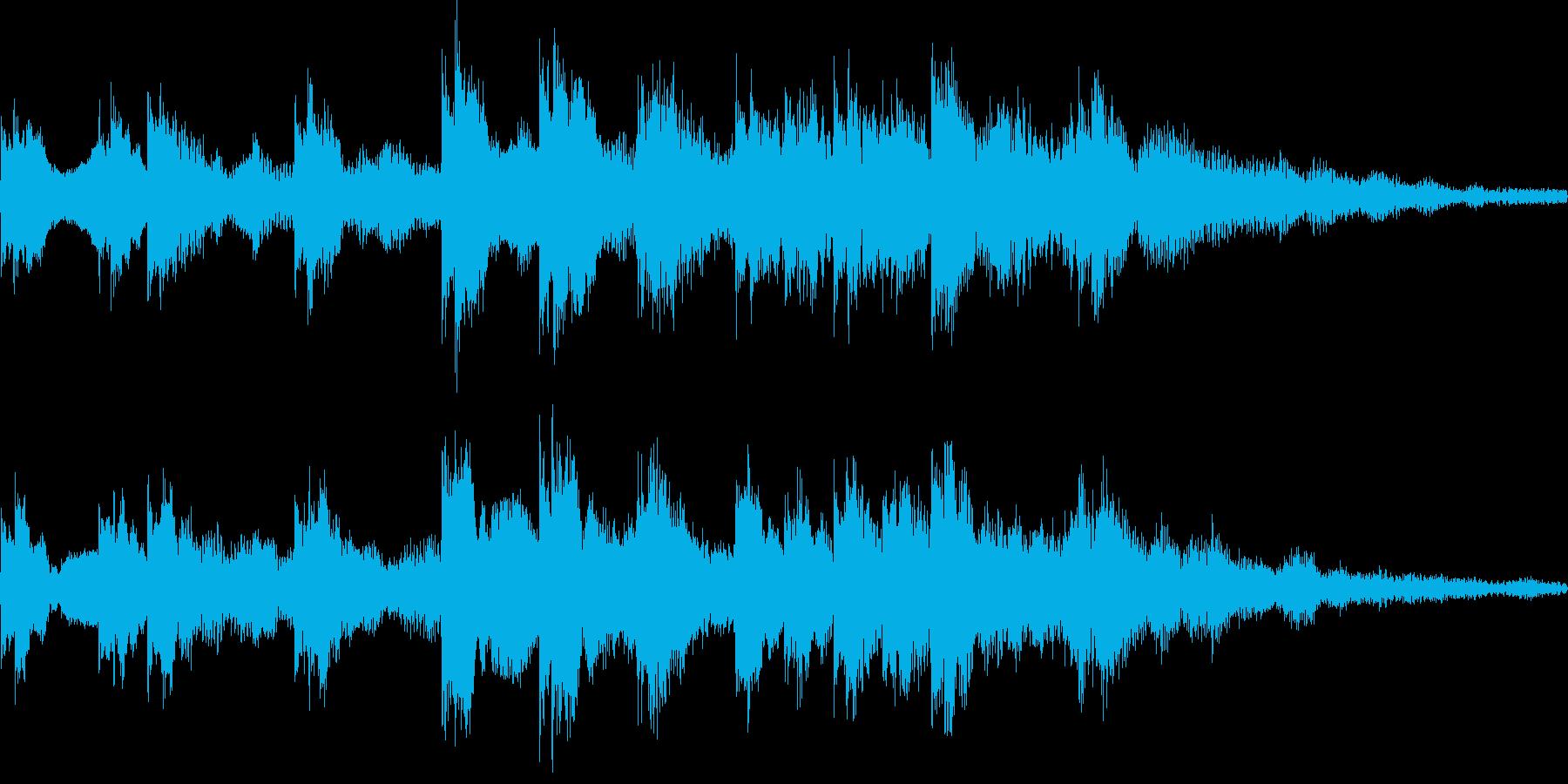 k012 アラーム音(ループ仕様)の再生済みの波形