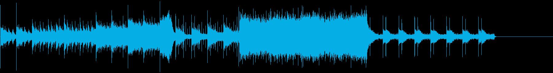 映画のトレイラーっぽい曲の再生済みの波形