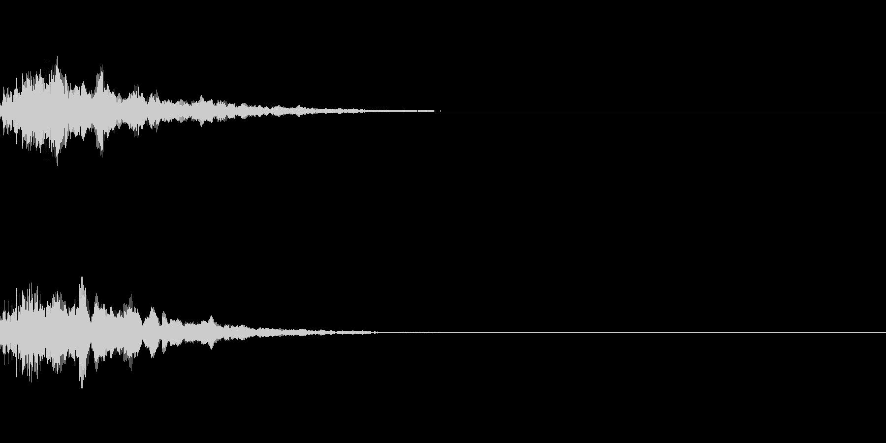 ピーン、ポピーン(カーソル、選択、決定)の未再生の波形