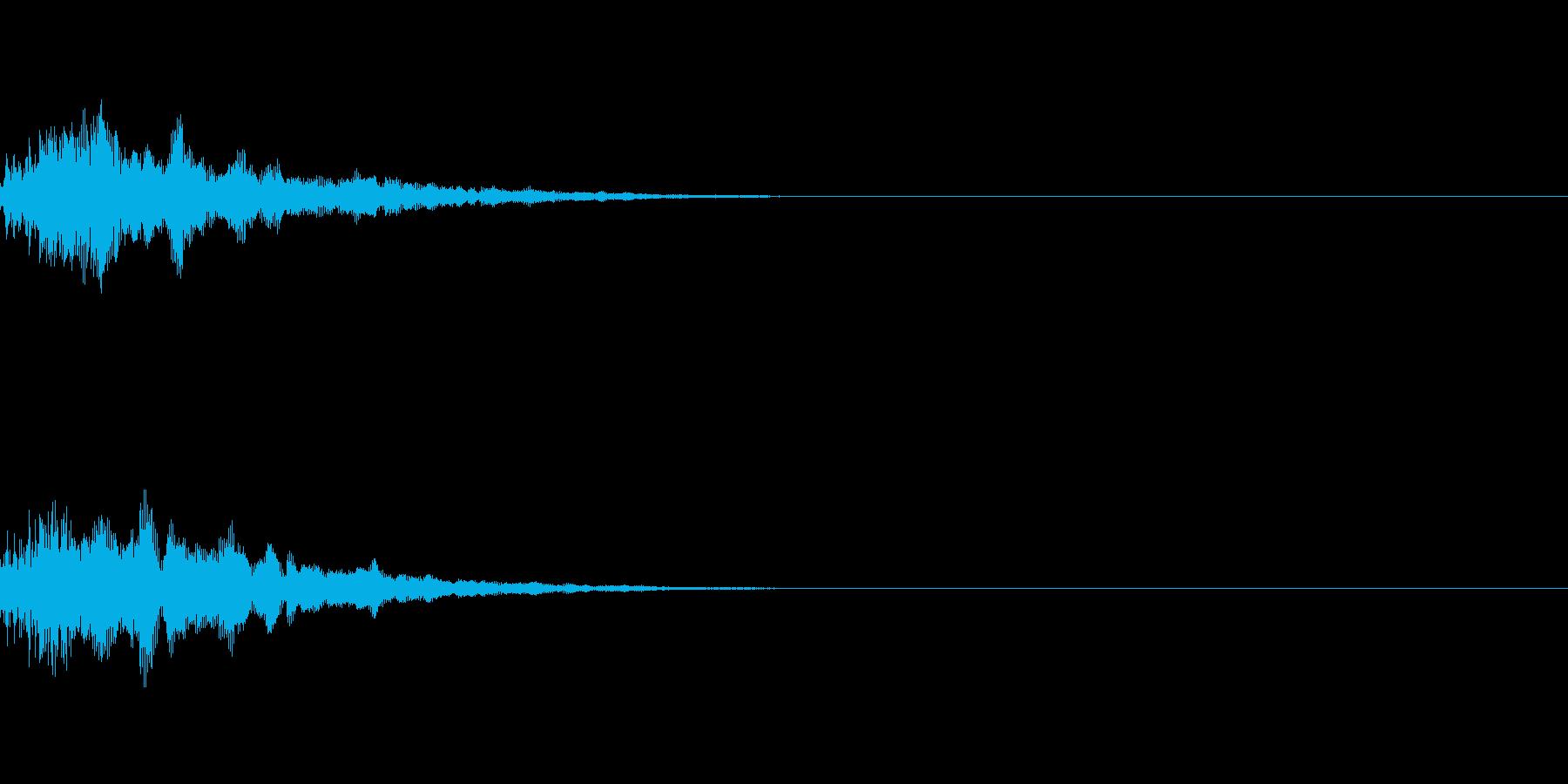ピーン、ポピーン(カーソル、選択、決定)の再生済みの波形