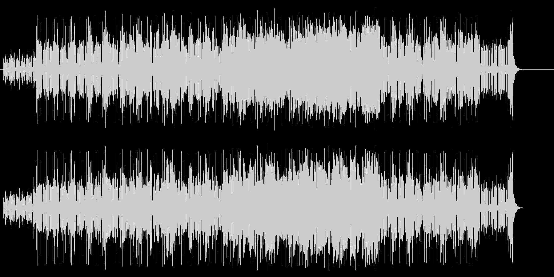 緊迫感漂うエレクトリック/フュージョンの未再生の波形
