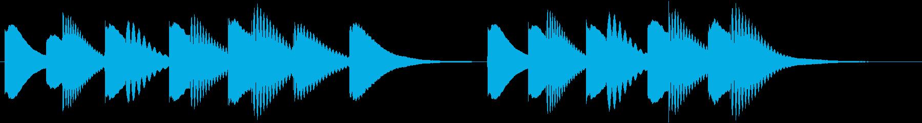 ジングル 木琴 軽快 元気の再生済みの波形