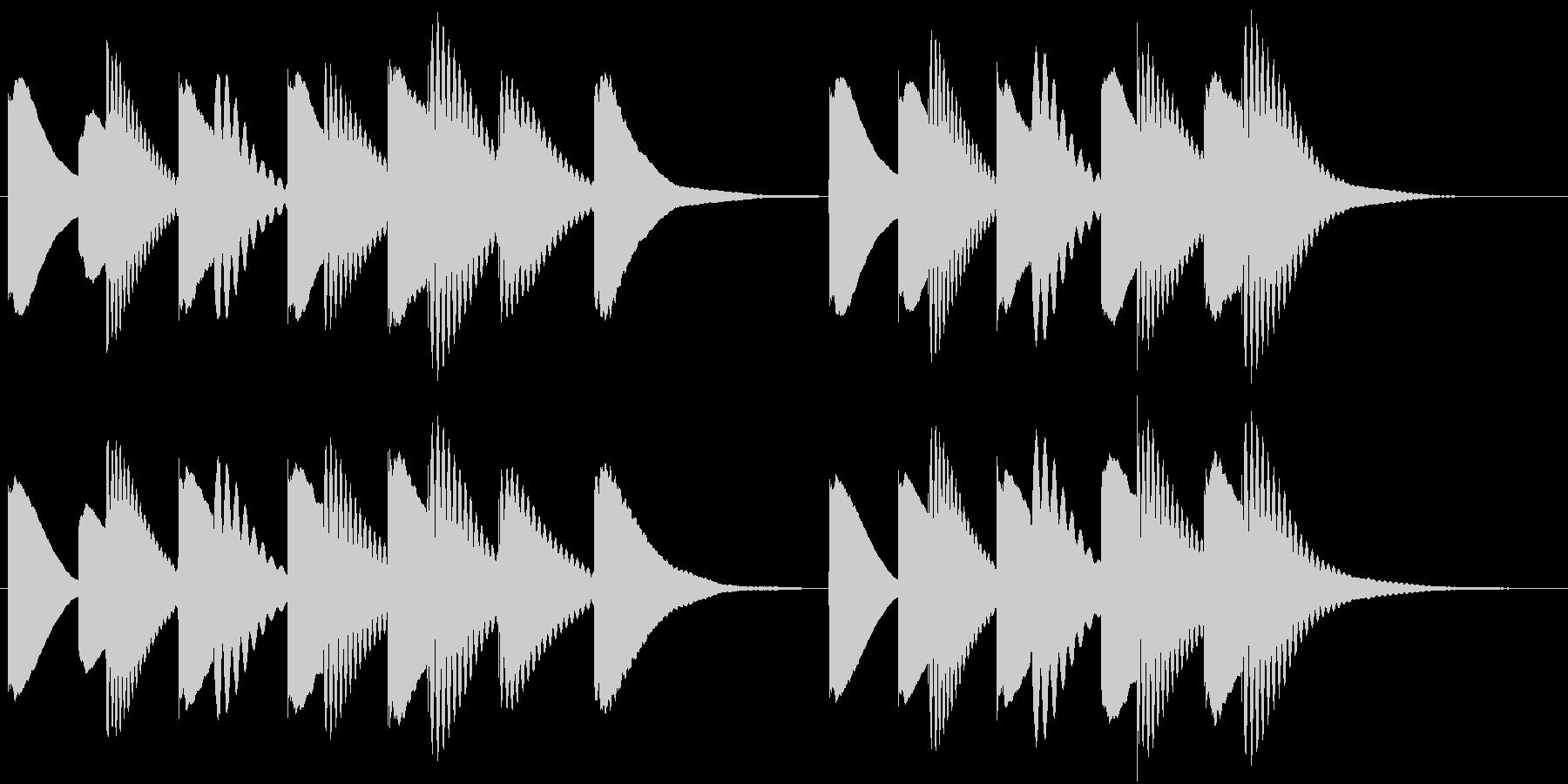 ジングル 木琴 軽快 元気の未再生の波形