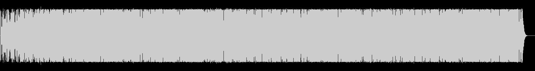前向きで明るくポップなBGMの未再生の波形