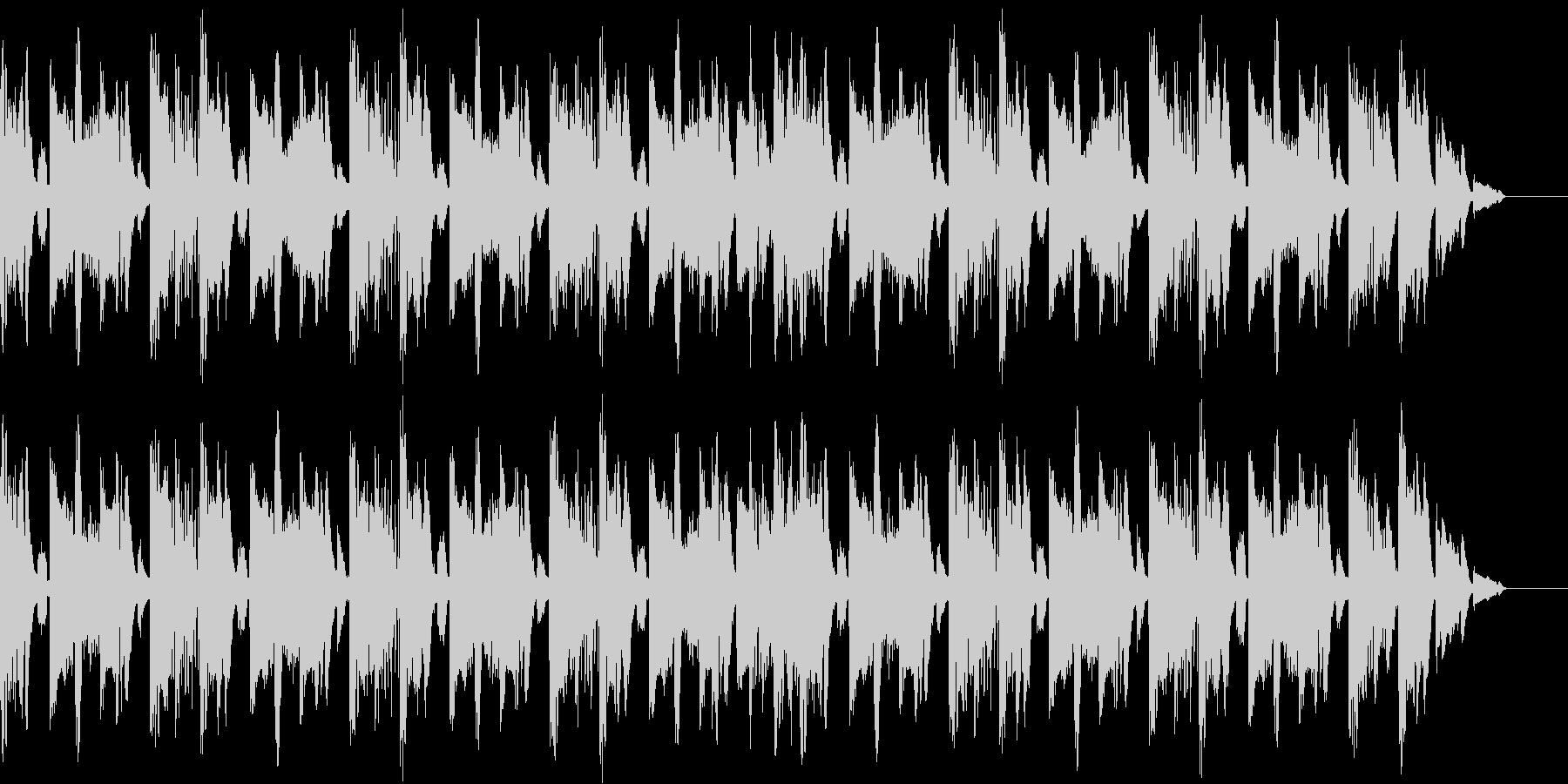 テクノハウステイストのBGMの未再生の波形