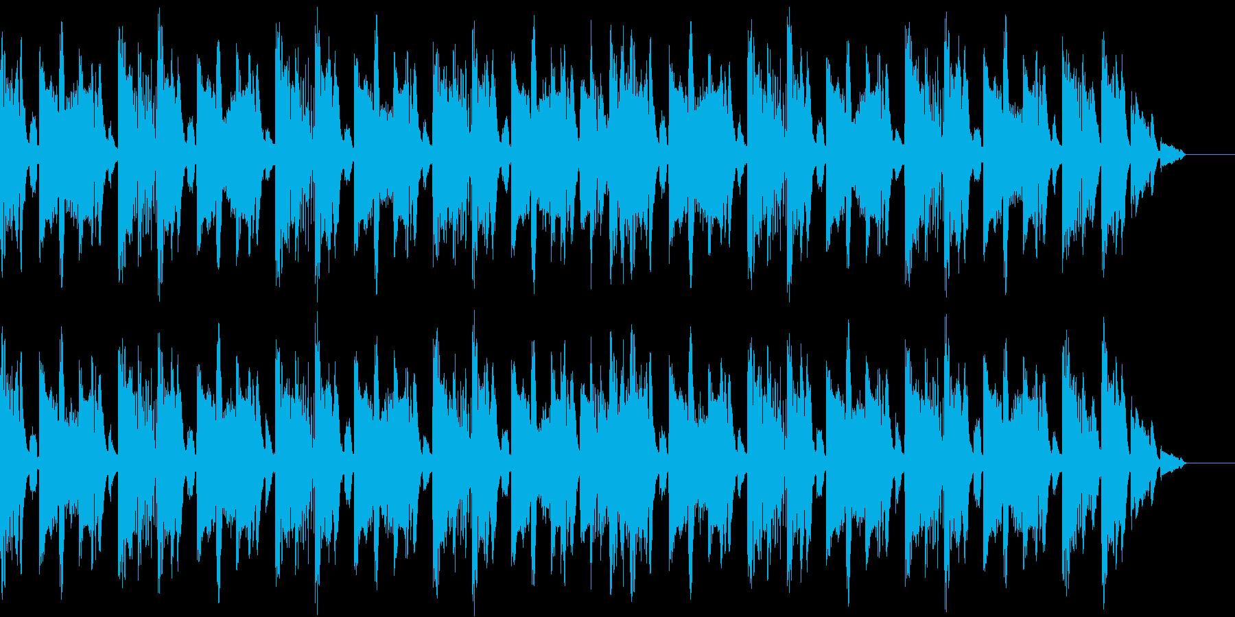テクノハウステイストのBGMの再生済みの波形
