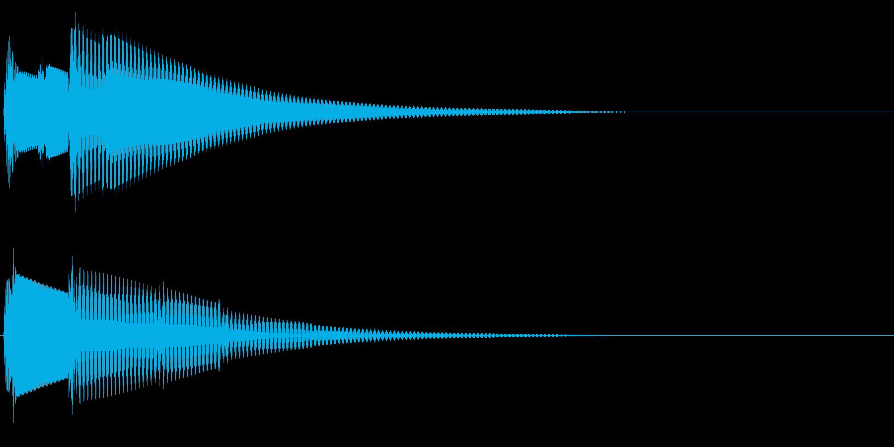 ピロン(決定音・起動音・ひらめき)の再生済みの波形