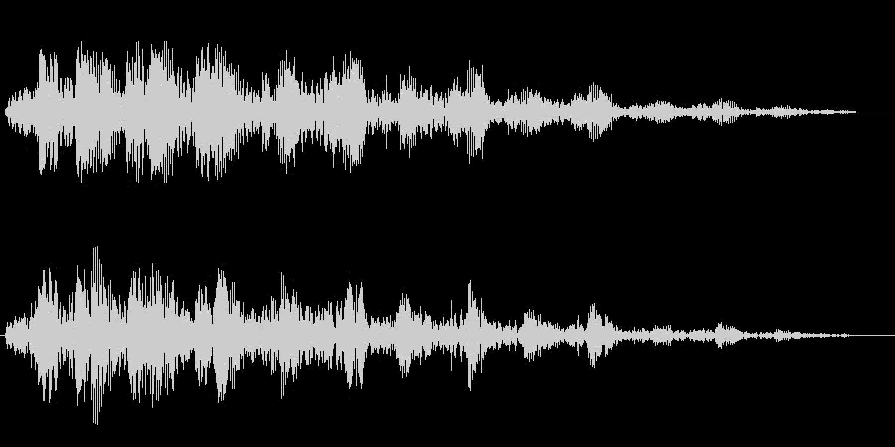 高音のトリルが響きわたる効果音の未再生の波形