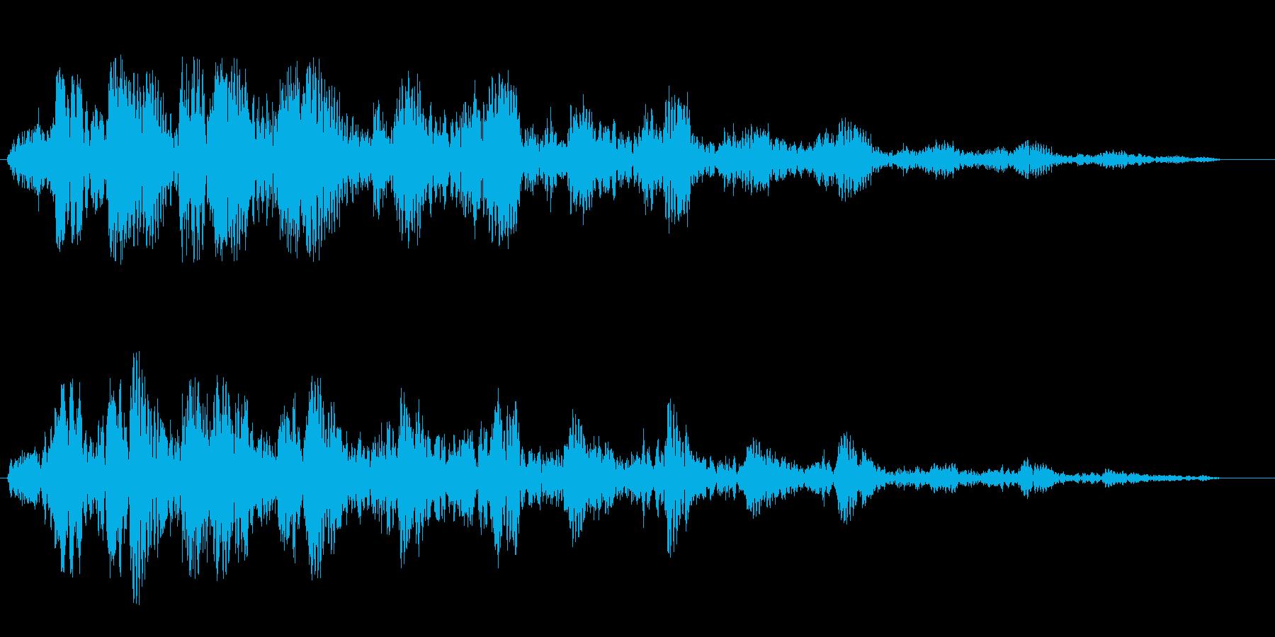 高音のトリルが響きわたる効果音の再生済みの波形