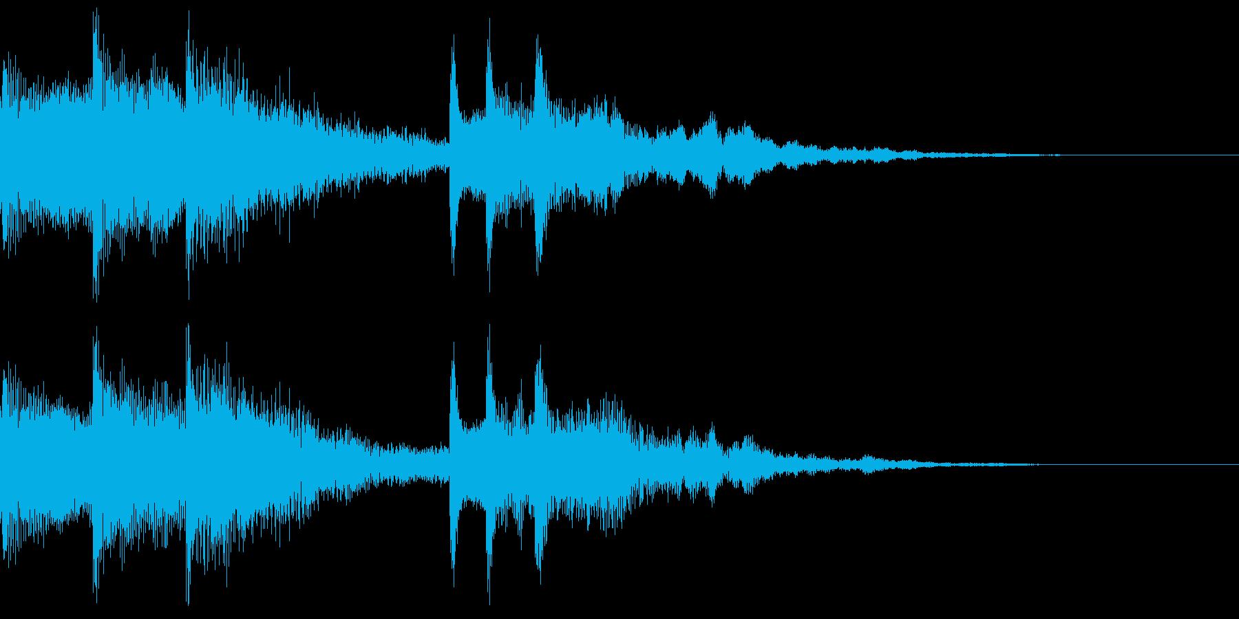 場面転換に合いそうなジングルの再生済みの波形