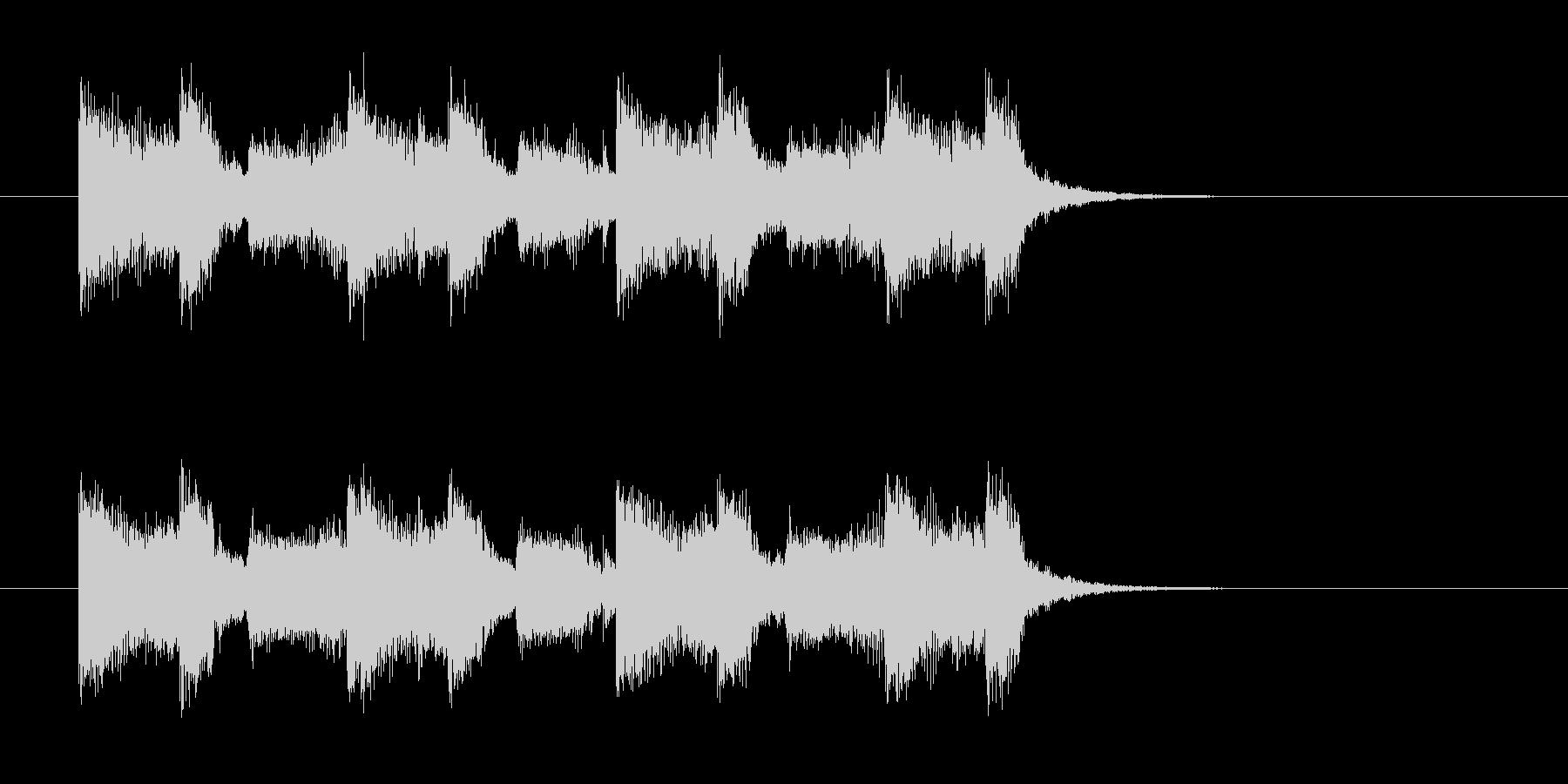 ギターとドラムのパンチのあるサウンドの未再生の波形