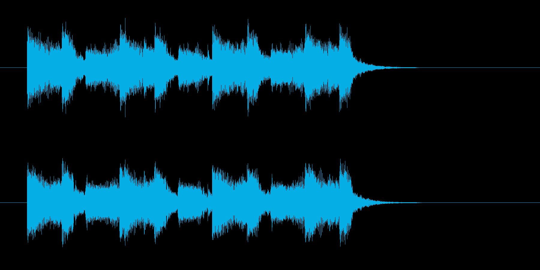 ギターとドラムのパンチのあるサウンドの再生済みの波形