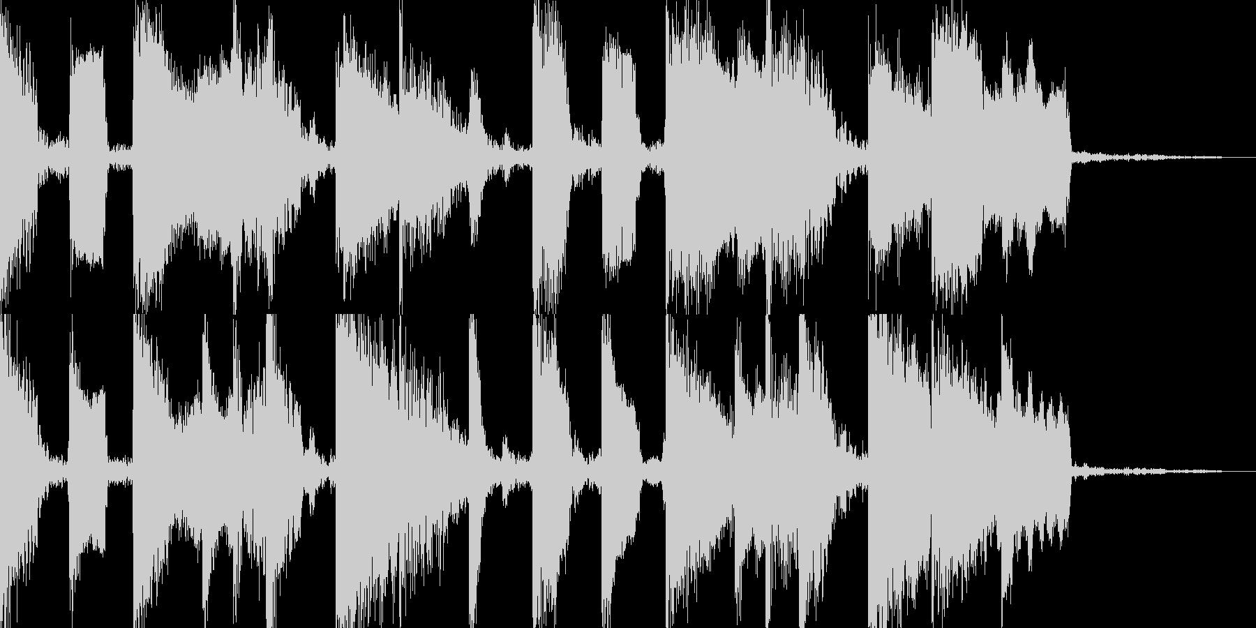 コミカルな5秒ピコピコフレーズ。の未再生の波形